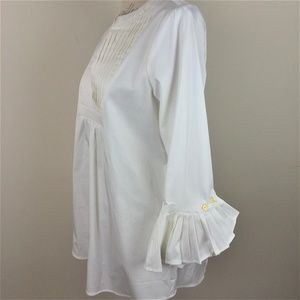 Monelle Ivory Flare Sleeve Popover Top Small NWT